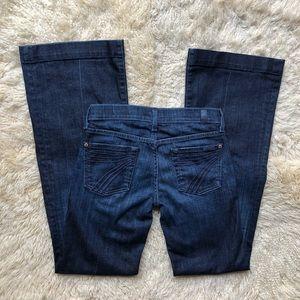 7 FAM | DOJO Dark Wash Flare Wide Leg Jeans
